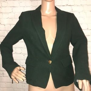 Zara blazer side pockets one button medium green